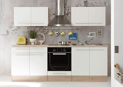 Küche Weiss Matt/ Sonoma Eiche: Amazon.De: Küche & Haushalt