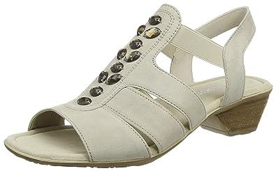 Gabor Shoes Damen Fashion Offene Sandalen mit Keilabsatz, Blau (Pazifik 16), 35.5 EU