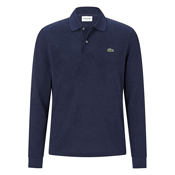 d3a4348696 Lacoste Mens L1313 Long Sleeve Polo Shirt in Sky: Amazon.co.uk: Clothing