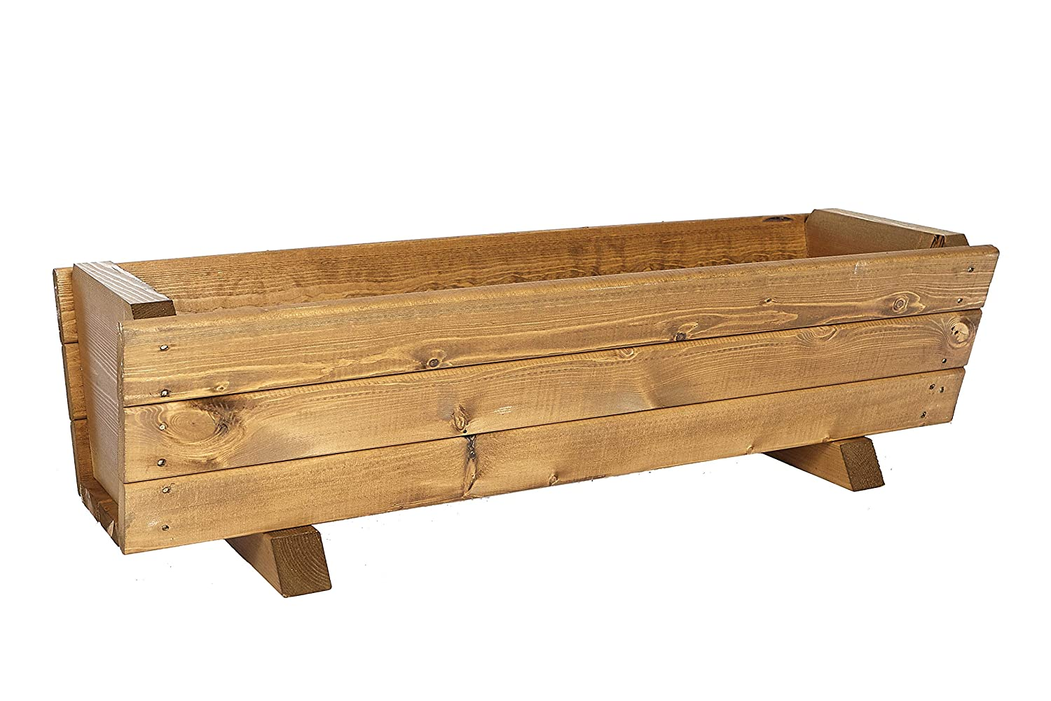 90cm Large Wooden Planter by Ruddings Wood