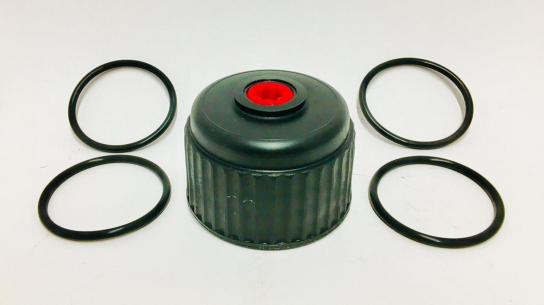 VP Racing Fuels 3042 Jug Cap w//4 Heintz Replacement Viton O-Ring for VP Racing Fuels Jug Caps