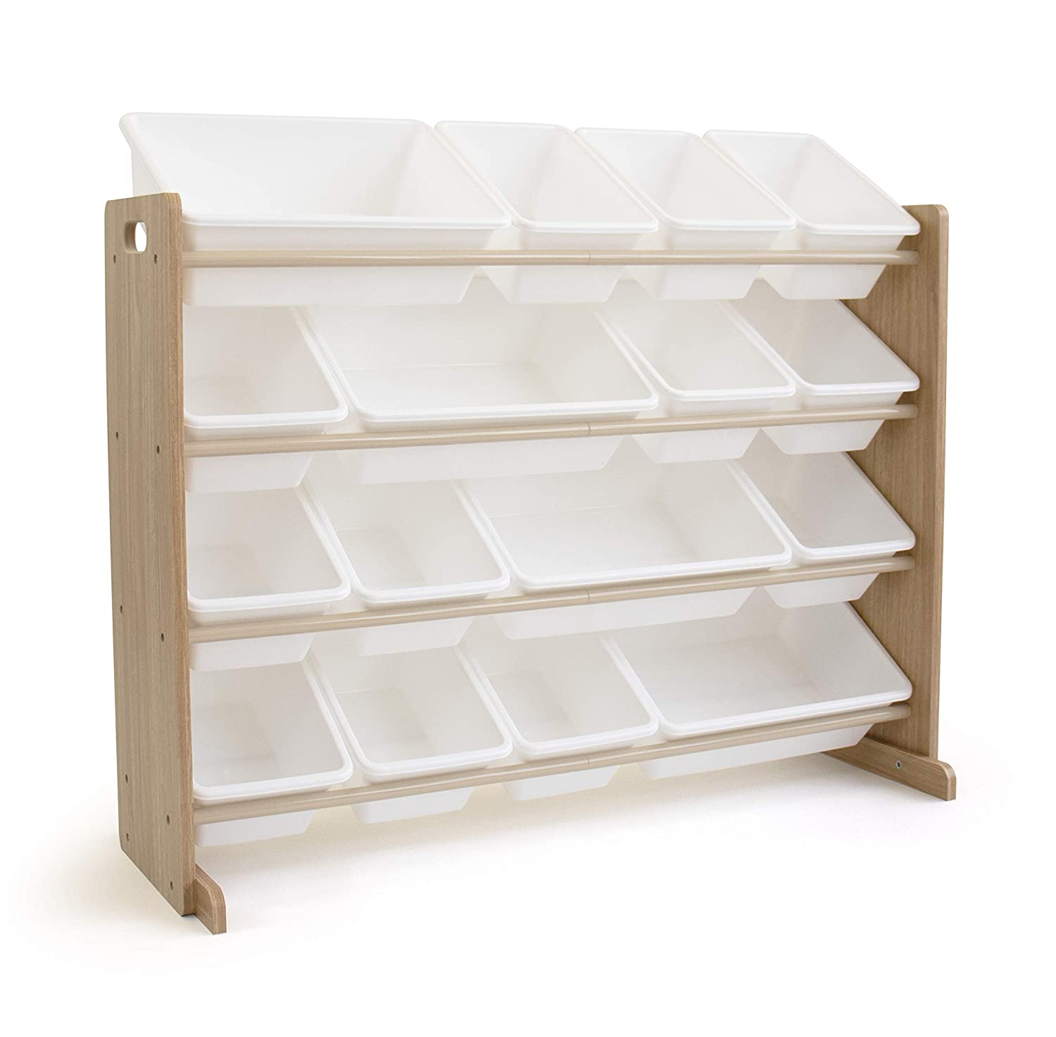 Tot Tutors WO166 Super-Sized Toy Storage Organizer w/ 16 Bin, Universal, Natural/White
