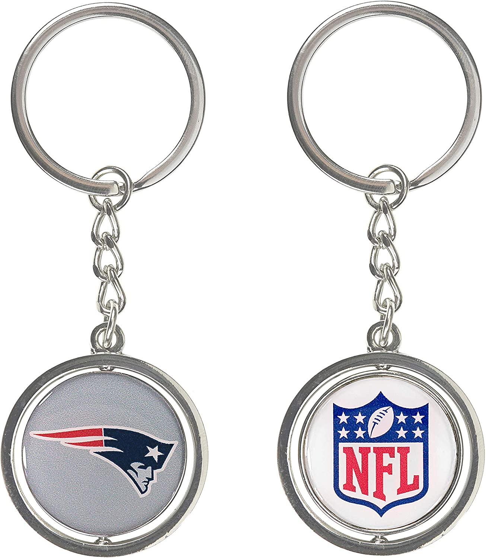 aminco New England Patriots – NFL Spinning Logo Llavero: Amazon.es ...