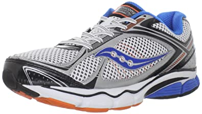 Saucony Men's Progrid Echelon 3 Running Shoe,White/Blue/Orange,8 W US