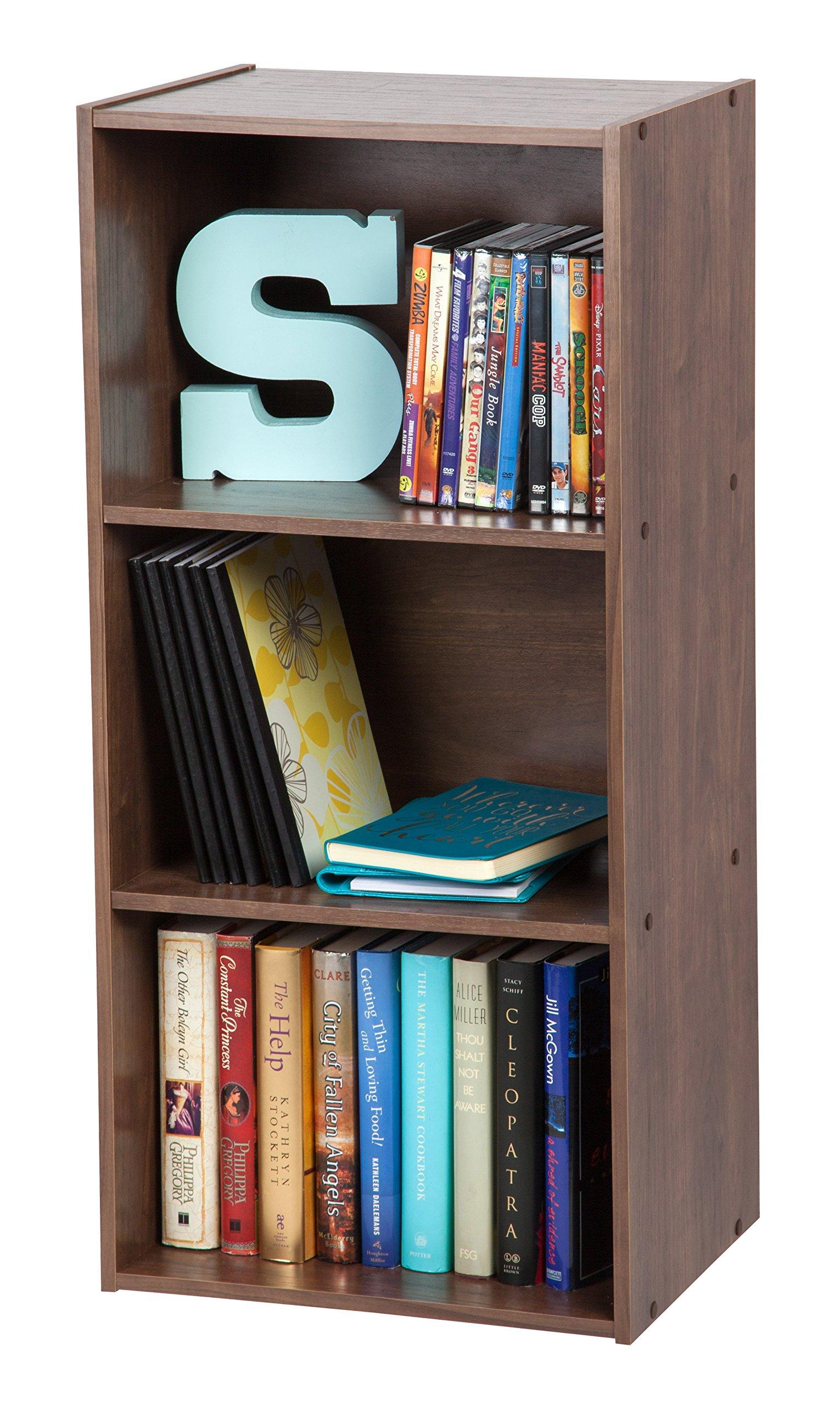 IRIS 3-Tier Basic Wood Bookcase Storage Shelf, Dark Brown by IRIS USA, Inc. (Image #3)