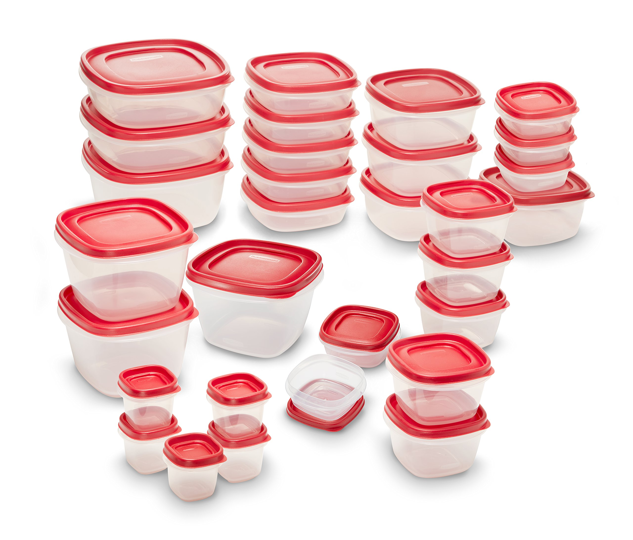 Rubbermaid Easy Find Lids Food Storage Containers, Racer Red, 60-Piece Set 2005627 by Rubbermaid