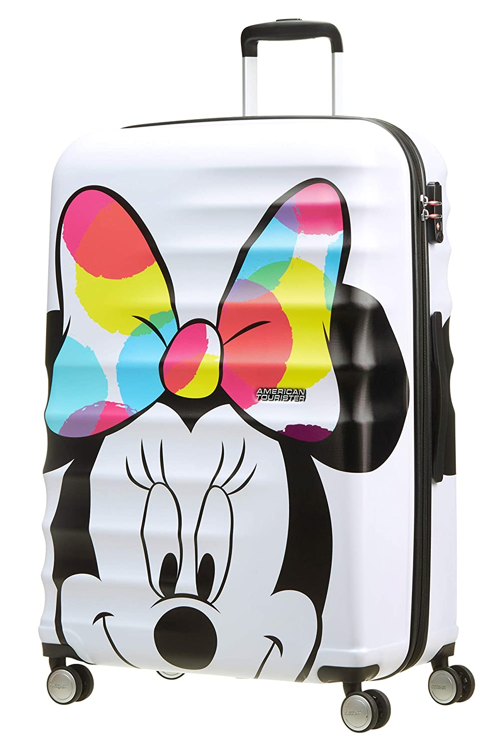 American Tourister Disney Wavebreaker - Maleta Infantil, Spinner L (77 cm - 96 L), Multicolor (Minnie Close-Up)