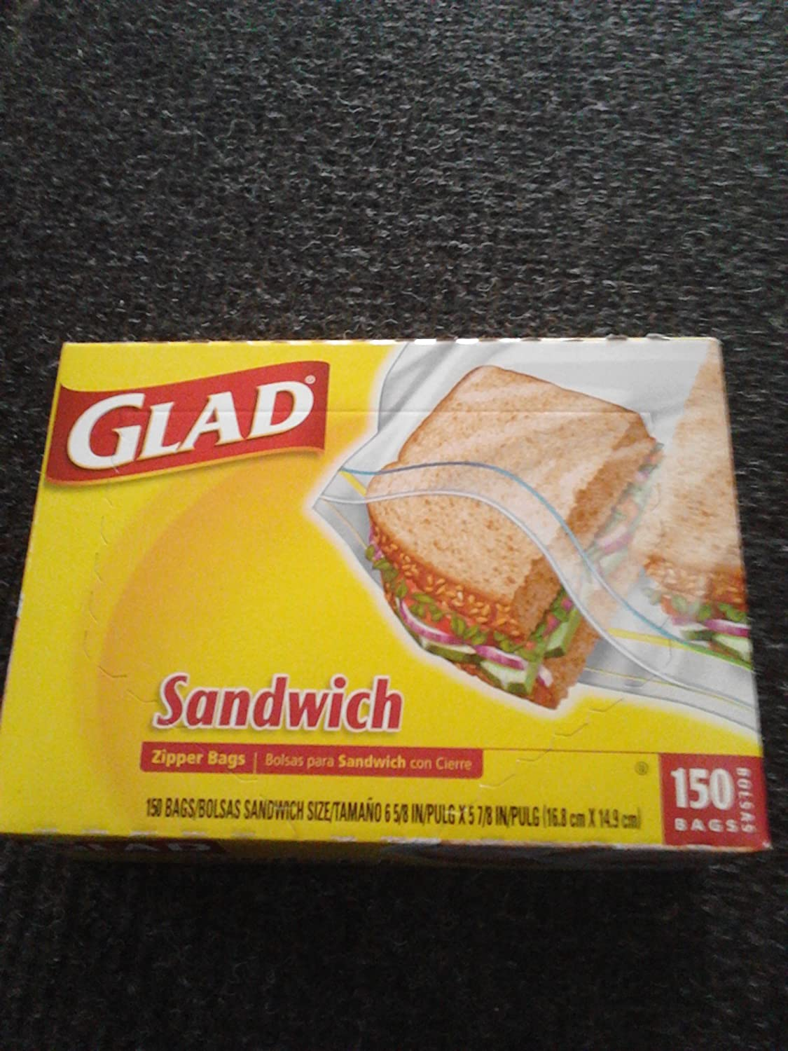 Amazon.com : Glad 150 Count Sandwich Bags : Grocery ...