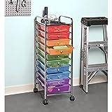 Seville Classics Cart, 10 Drawer, Multicolor