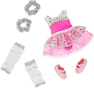 Glitter Girls Dolls by Battat – Twirls of Joy Ballerina Outfit Hearts & Stars – Ballet Dress, Hair Elastics, Shoes – 14-inch Doll Clothes & Accessories for Kids Ages 3 & Up – Children's Toys
