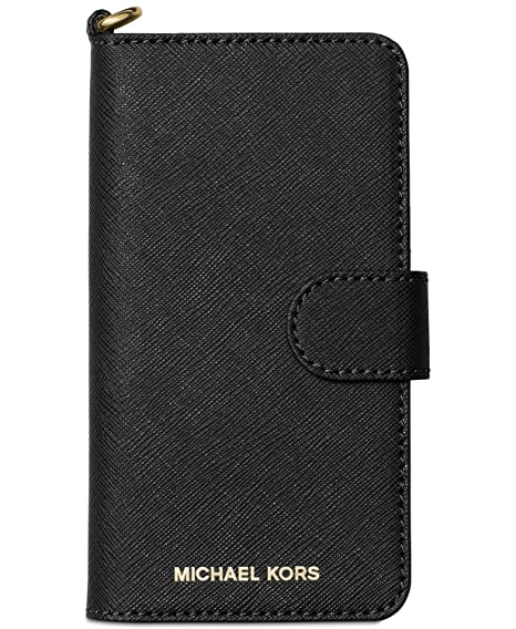 pretty nice b63fa c7c3a Michael Kors Saffiano Leather Folio Case for iPhone 8 & iPhone 7, Black