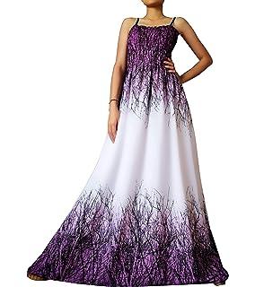 e0a955ac1 Women Floral Plus Size Maxi Dress Casual Long Sexy Summer Hawaiian White  Peacock Sleeveless Sundress