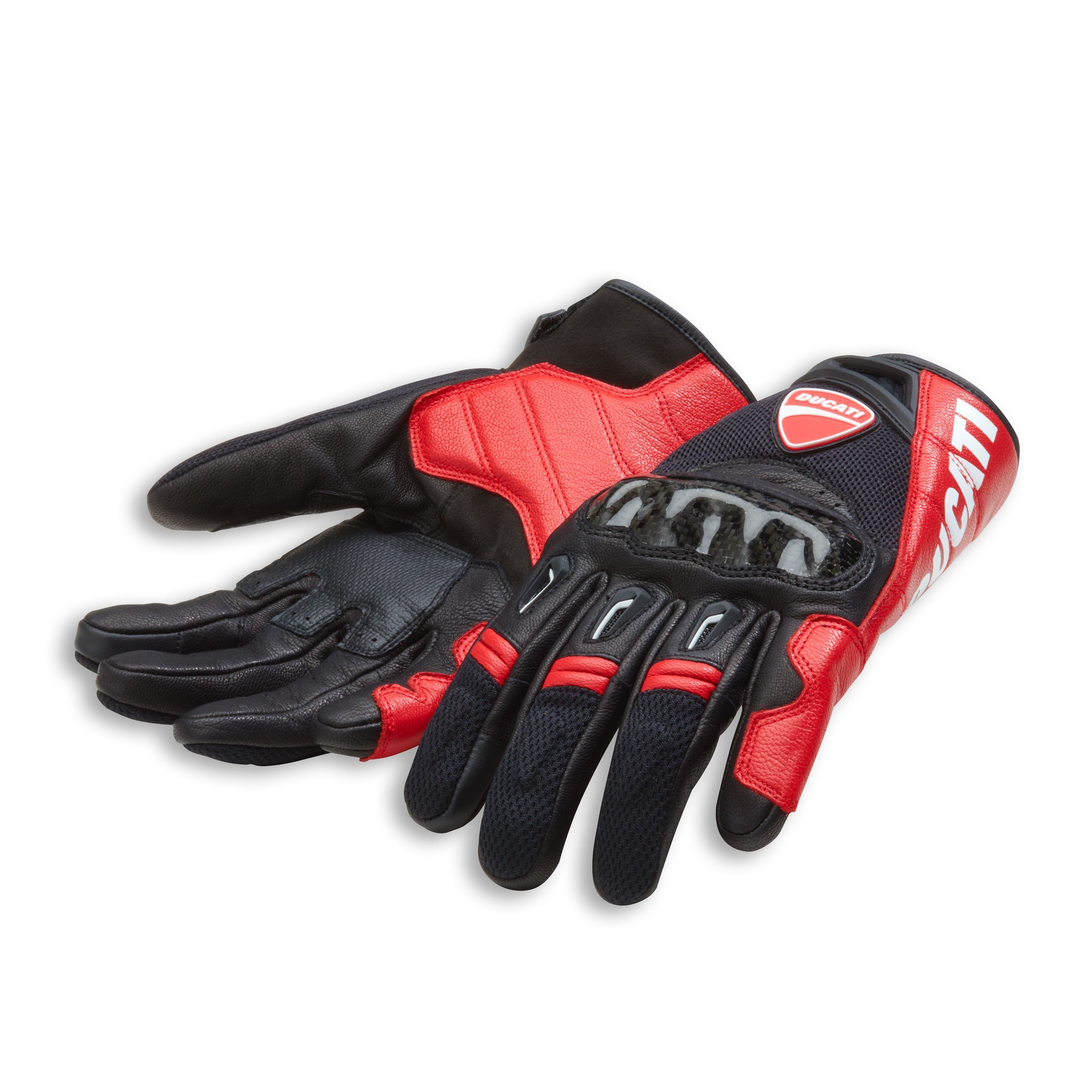 Ducati Company C1 Leather Motorcycle Gloves (2XL, Red/Black) by Ducati (Image #1)