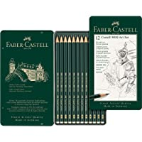 Faber-Castell graphite pencils Faber-Castell 9000 Graphite Pencil Art Set 12 Pack, (10-119065)