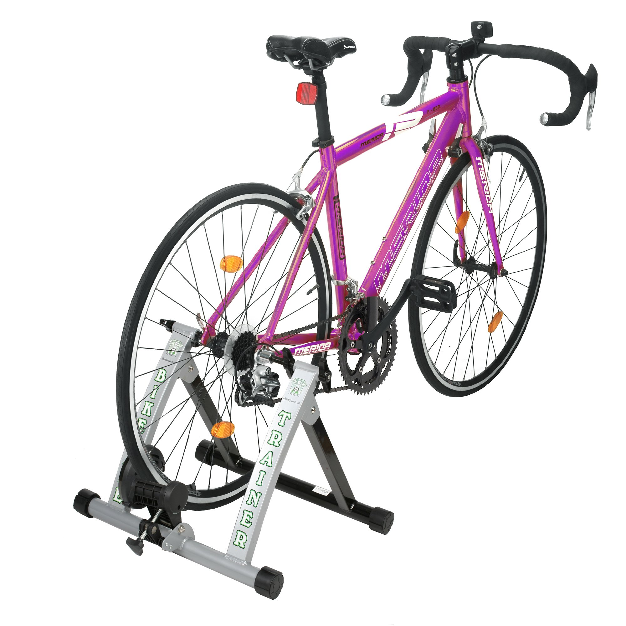 Bike Lane Trainer Bicycle Indoor Trainer Exercise Machine Ride All Year Around With 850 Gram Machined Steel Flywheel for the Most Natural Pedal Feel by Bike Lane (Image #1)