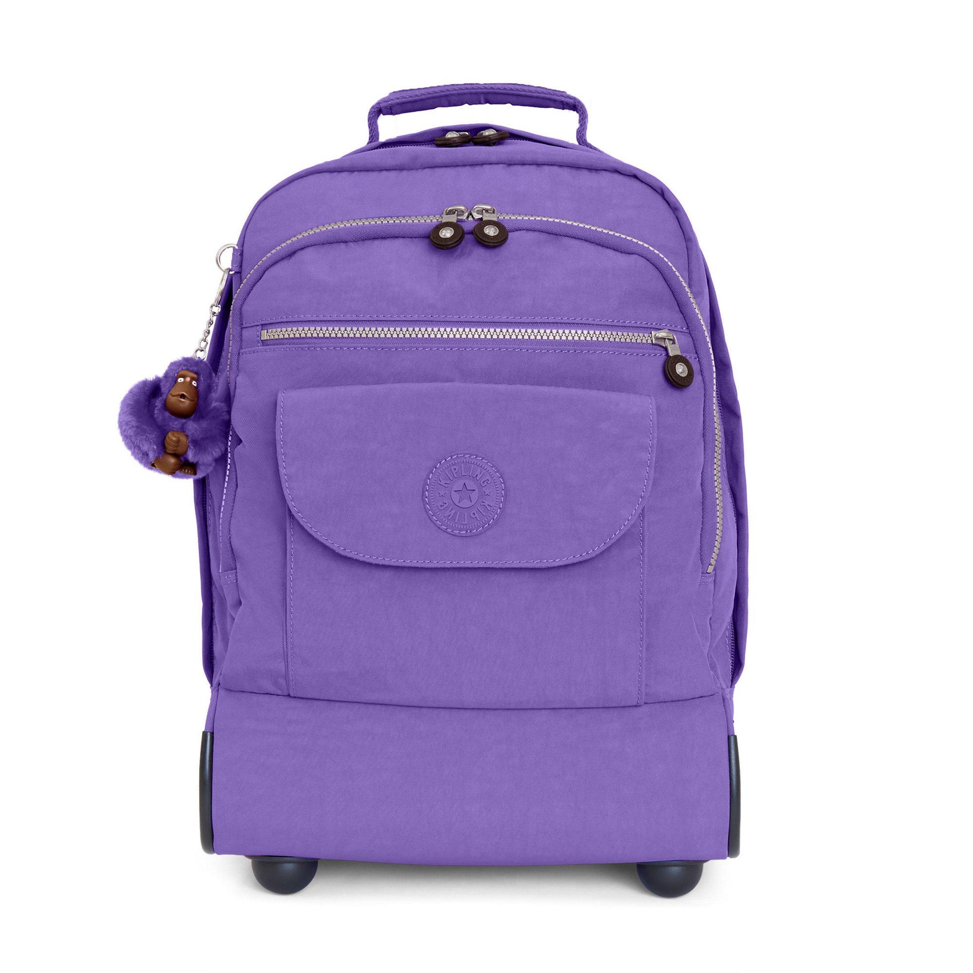 Kipling Women's Sanaa Large Rolling Backpack One Size Purple Feather