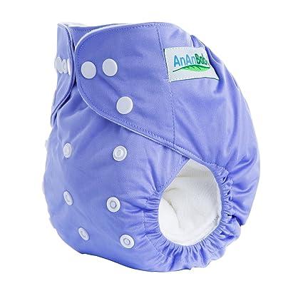 ananbaby transpirable paño pañal reutilizable color sólido bebé pañales talla única se utiliza para 0 –