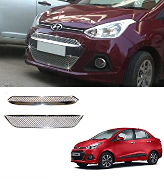 Auto Pearl Chrome Plated Front Grill For Hyundai Xcent Amazon