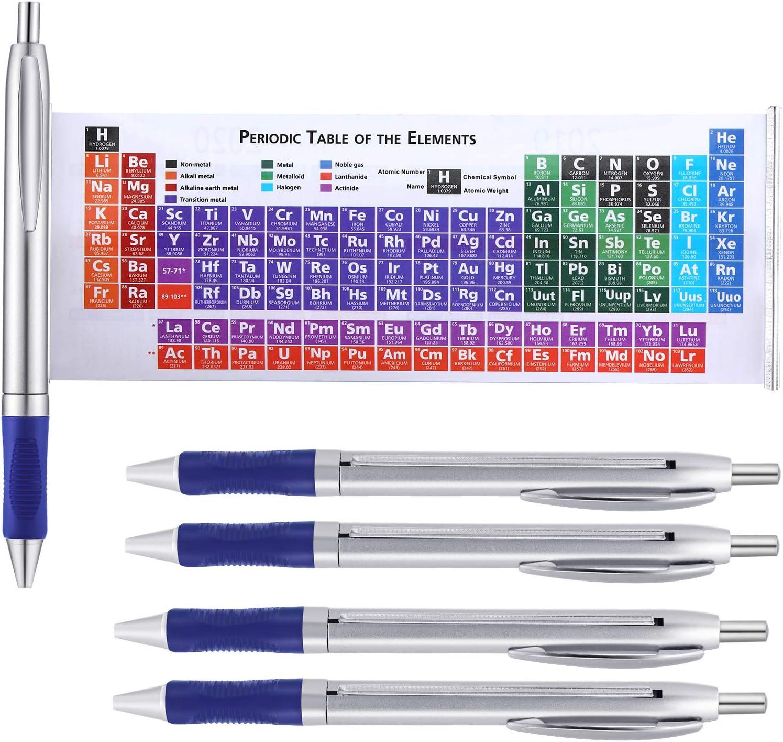 Pluma de Tabla Periódica de Elementos de Química Bolígrafos con Calendario 2020 y 2021 para Amigos Profesores Familias Regalo Creativo (10) (20)