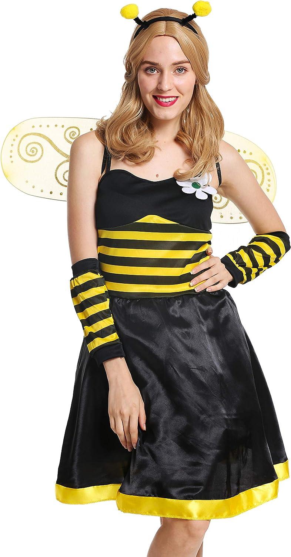 dressmeup - W-0057-S/M Disfraz Mujer Feminino Abeja Colmena Avispa Talla S/M.