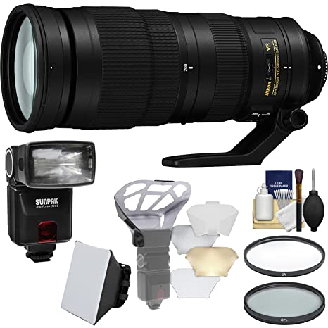 Nikon 200 – 500 mm f/5.6E AF-S ED VR Zoom Nikkor Lente con iTTL ...