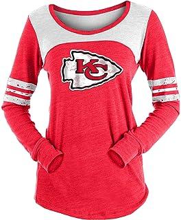 2fb6c7e6 Amazon.com : Kansas City Chiefs Women's Red Game Time Glitz Tri ...