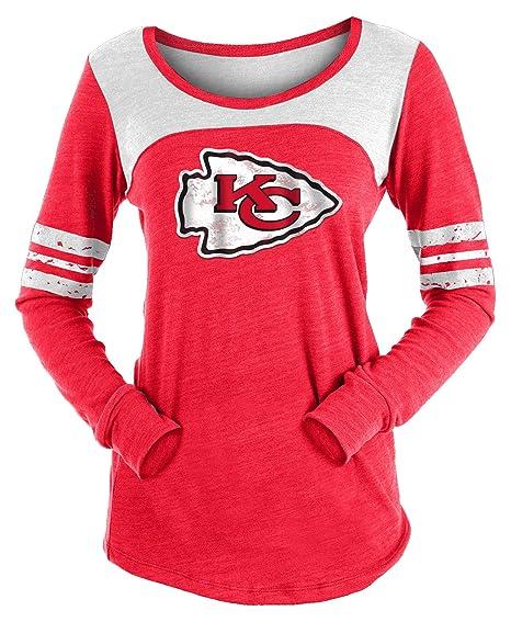 timeless design ad8fb e1193 New Era Kansas City Chiefs Women's Long Sleeve Tri-Blend Striped T-Shirt