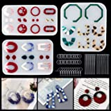 LET'S RESIN 3PCS Earring Epoxy Resin Molds, Bohemian Drop Dangle Resin Earring Mold, Fashion Jewelry Resin Silicone Molds for Women Girls
