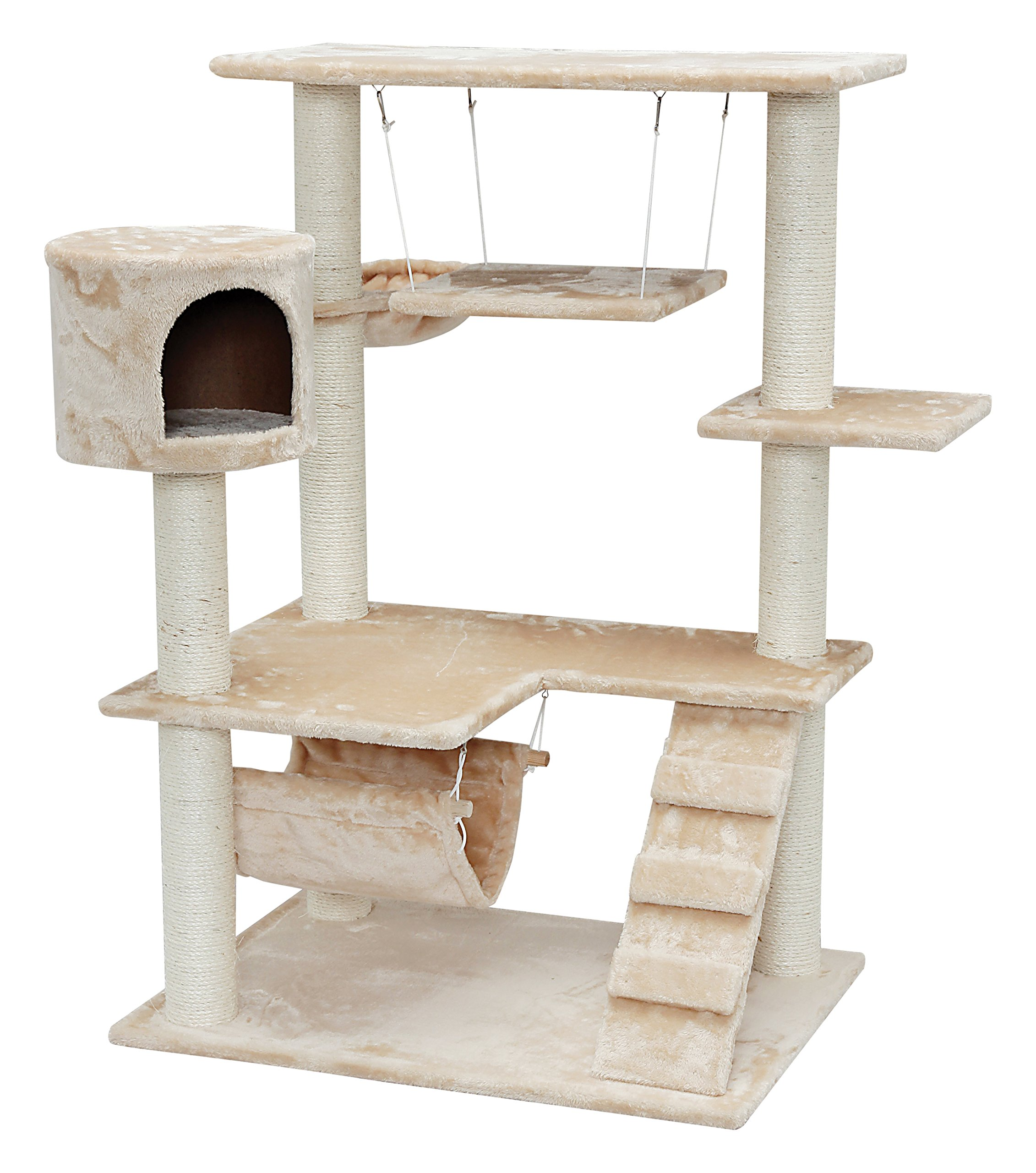 IRIS 4-Tier Cat Tree Condo, Cat Clubhouse
