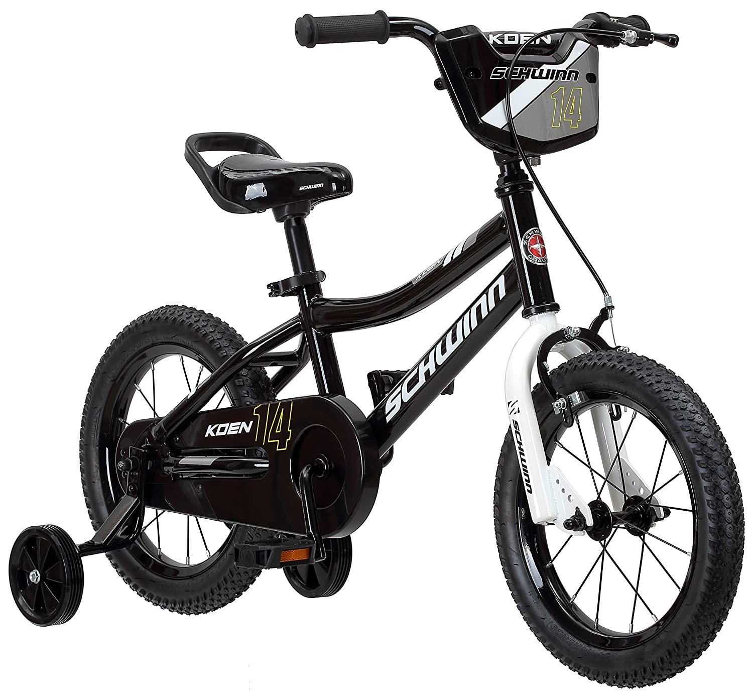 Schwinn Koen Boy's Bike with SmartStart, 12-14-16-18-20-inch Wheels, Multiple Colors Available 12 Wheels Black S0266AZ