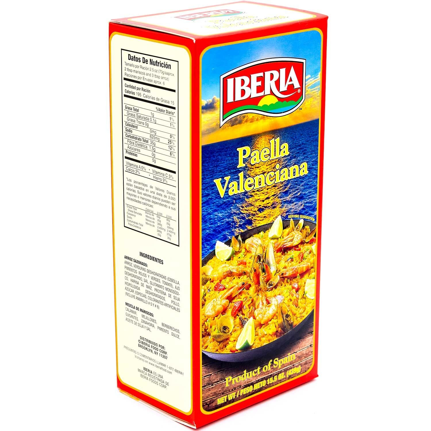 Amazon.com : Iberia Paella Valenciana, Yellow Rice and Seafood Dinner, 15.5 Ounce : Packaged Rice Paella : Grocery & Gourmet Food
