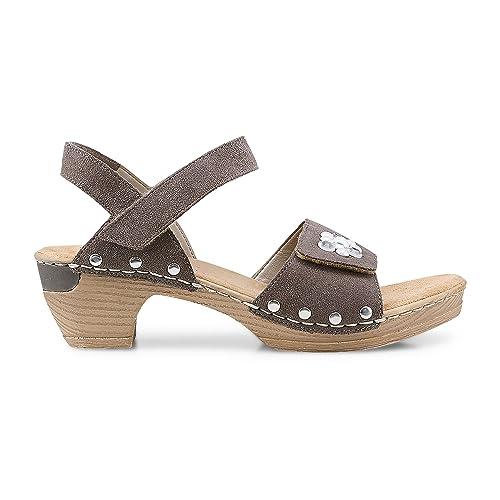 Rieker Damen Sandaletten SAMTI 66855 25 braun 414987