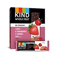 KIND Whole Fruit Bars, Strawberry Apple Chia, No Sugar Added, Gluten Free, (formally known as Pressed), 1.2 Ounce (12 Count)