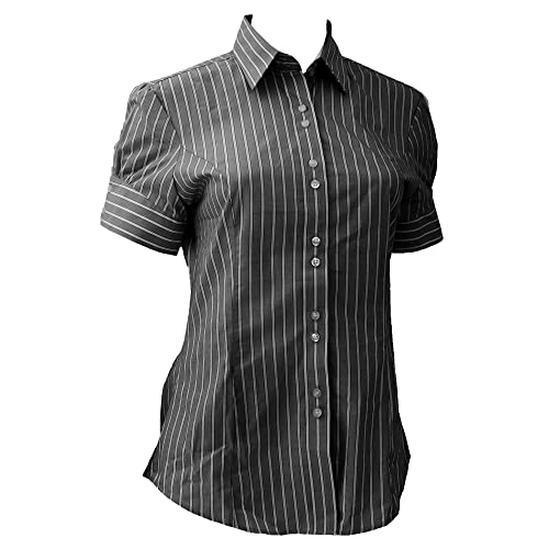 Brook Travener- Camisa Liguria de Manga Corta para Mujer (Forma favorecedora)