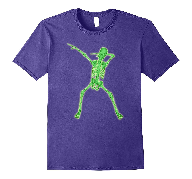 Dab Dabbing Skeleton T-Shirt Glowing Human Skeleton Effect-FL