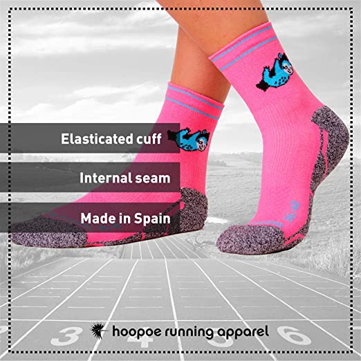Perezoso sin Costuras Tallas 36-45 Divertidos HOOPOE Calcetines Trail Running Lazy Mujer Rosa T/érmicos Lazy Hombres