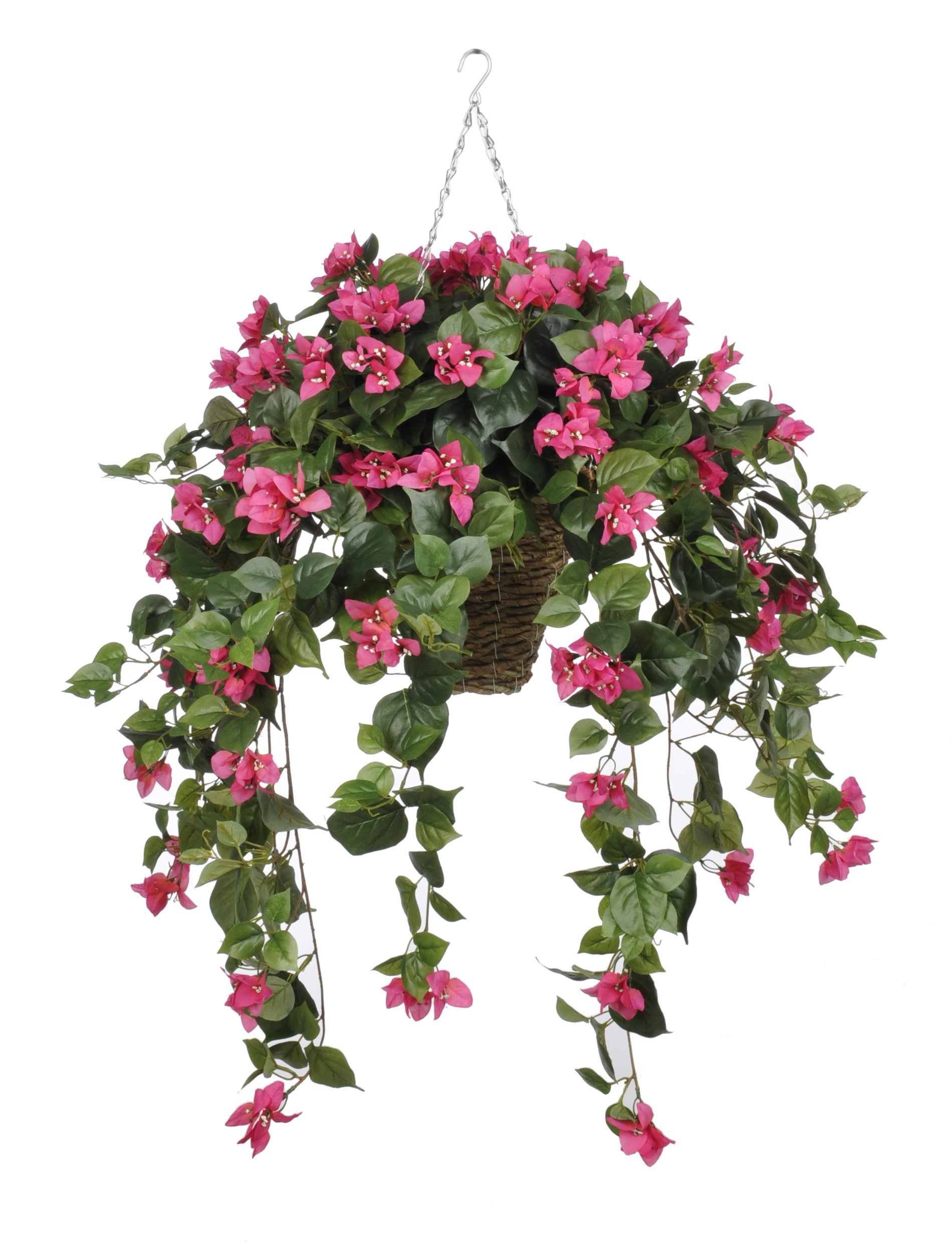 House-of-Silk-Flowers-Artificial-Pink-Bougainvillea-in-Hanging-Square-Basket