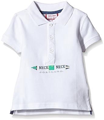 Neck & Neck - Polo para niño, color blanco, talla 2A: Amazon.es ...