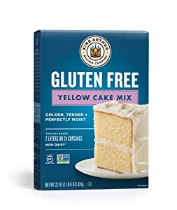 King Arthur, Gluten-Free Yellow Cake Mix, Gluten-Free, Non-GMO Project Verified, Certified Kosher, Non-Dairy, 22 Ounces