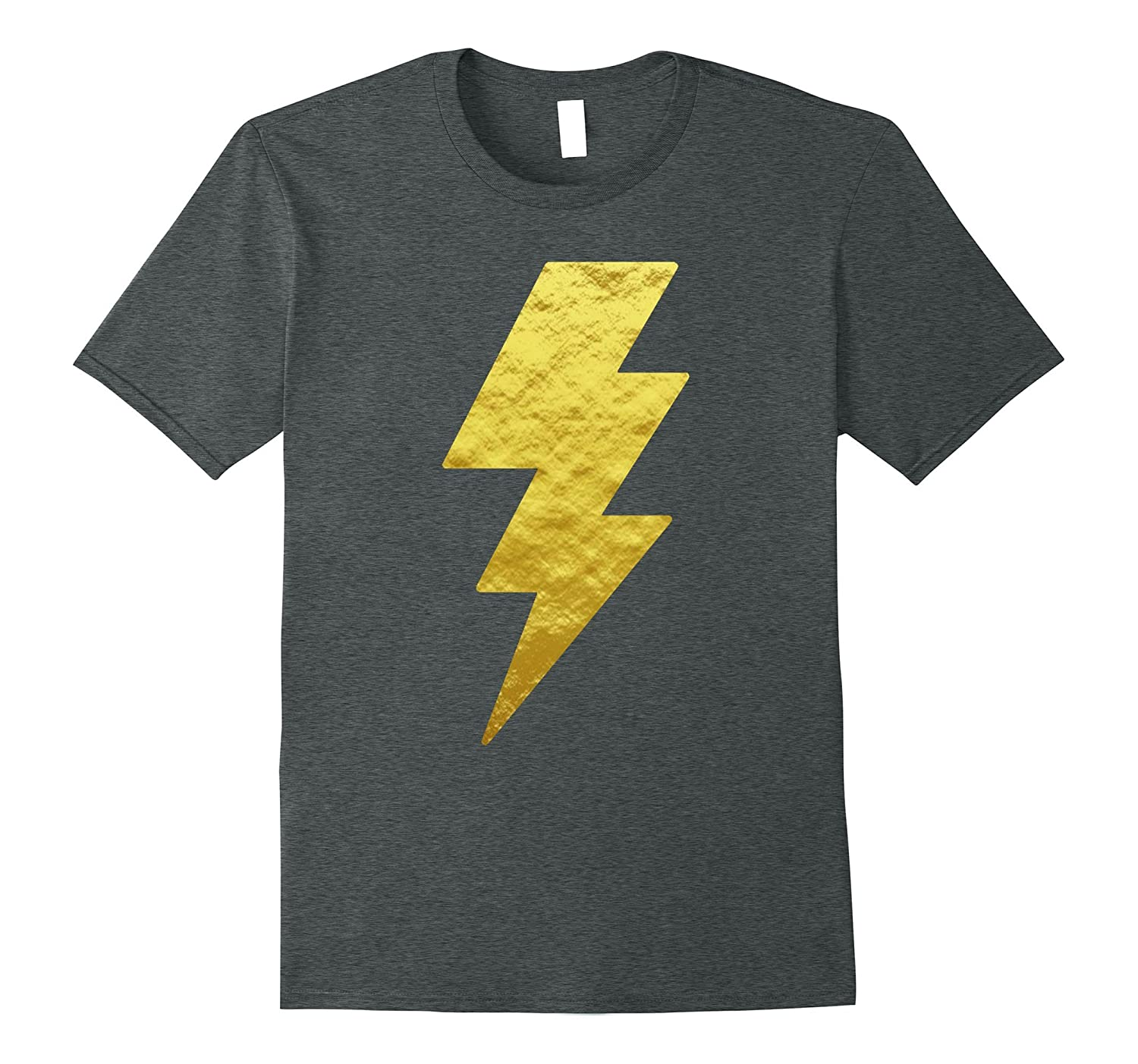 Lightning Bolt Tshirt Gold Unisex Graphic Printed Tees Tops Fl