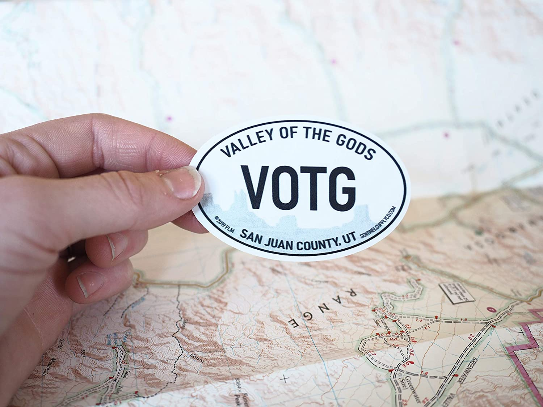 Monument Valley UT Vinyl Decal 3 Southwest ADV /& RV Stickers Valley of the Gods Utah White Oval Bumper Sticker
