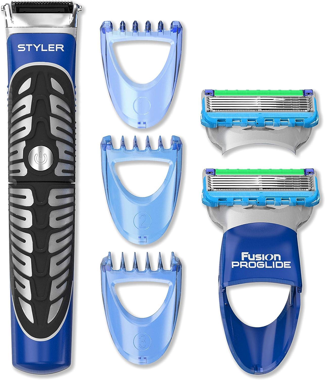 Gillette Styler Multiusos - Recortadora Barba, Maquinilla + 2 ...