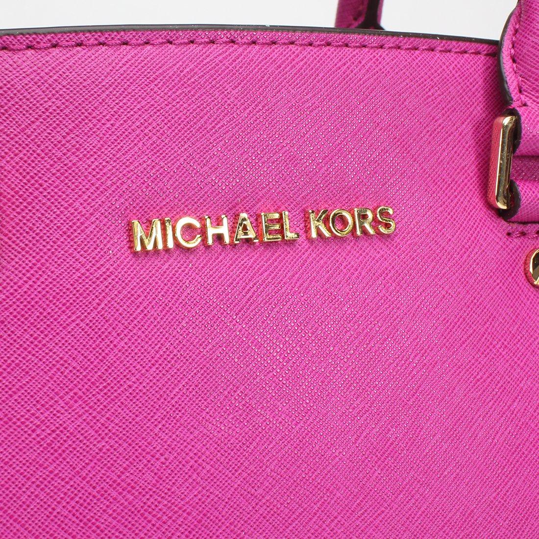 Michael Kors Large Selma Satchel Fuschia Handbags Medium Lilac Authentic