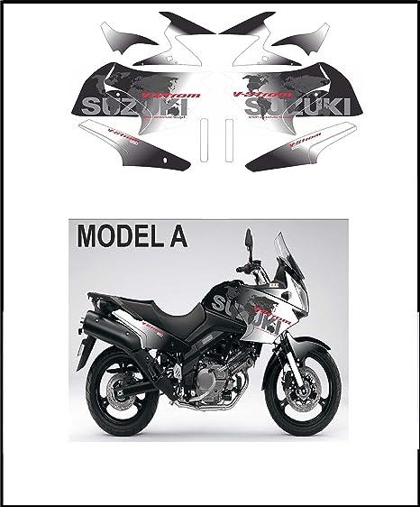 Kit adesivi Decal stikers VSTROM 650 2004 2011 World Mod.A Black ...