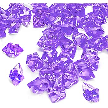 Amazon Com Tanday 1 Pounds Lavender Acrylic Ice Rock Vase Filler Gems Or Table Scatter Arts