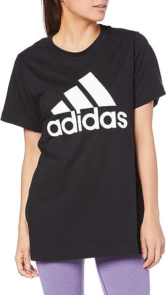 adidas Camiseta de algodón con insignia de deporte para mujer - CX5079, playera deportiva con insignia., 2X, Negro: Amazon.es: Ropa y accesorios