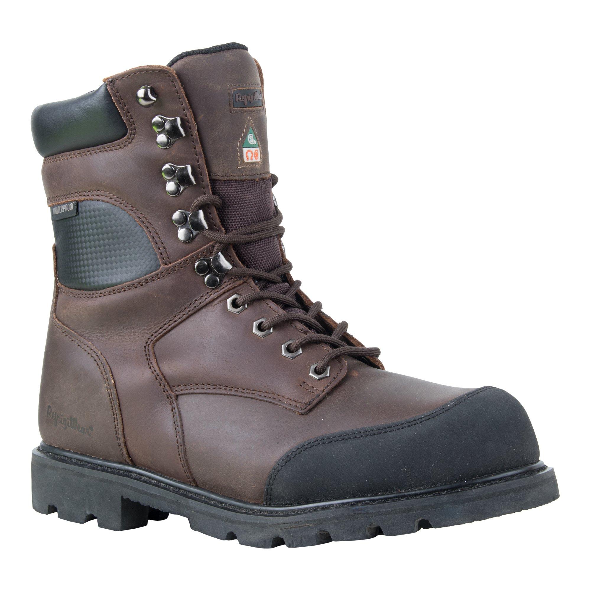 RefrigiWear Men's Platinum Leather Boot, Brown, 11.5 US by Refrigiwear