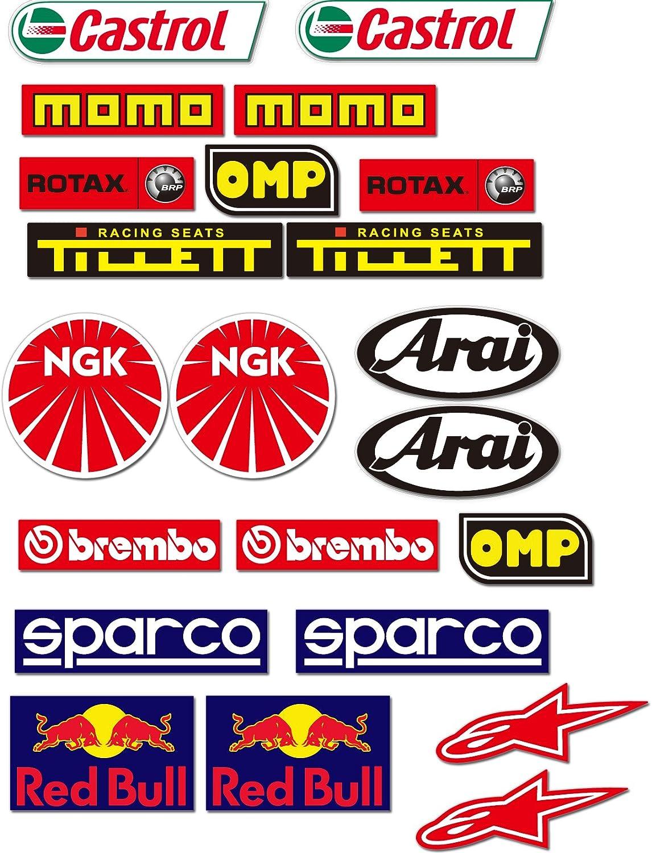 Karting Decals 22  Sponsors Overall Racing Car Kart Go Karting Stickers