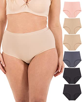 86f3adcd2 Underwear Women - Seamless No-Show Womens Underwear Small to Plus Size 6  Panties at Amazon Women's Clothing store: