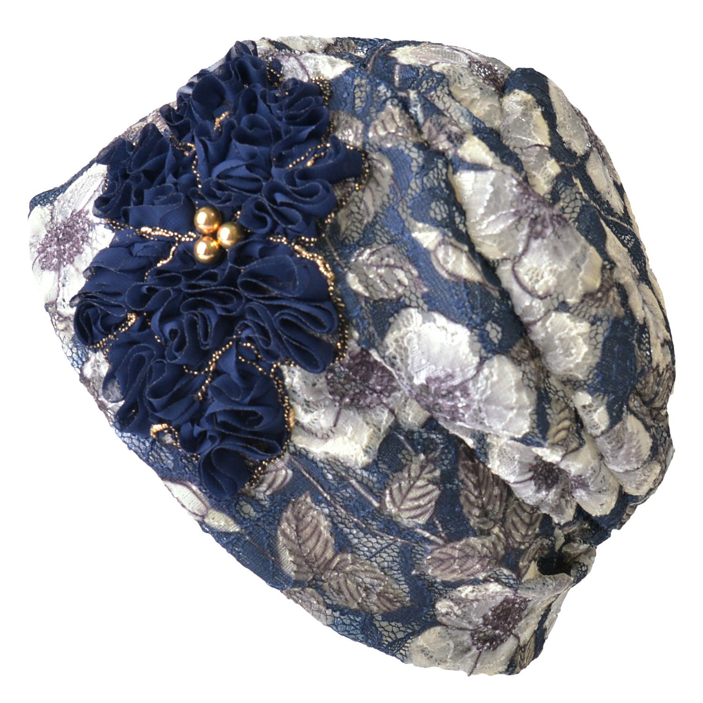 CHARM Casualbox | Women's Flower Hat Beanie Retro Design Ladies Fashion Cute Classic 4589777964525